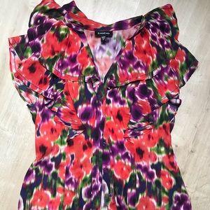 Bebe Floral Ruffle Shirt